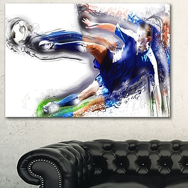Soceer Big Kick Metal Wall Art, 28x12, (MT2574-28-12)