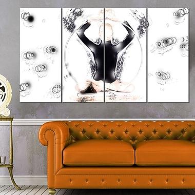 Art mural en métal, méditation esprit corps et âme, 48 x 28, 4 panneaux (MT2575-271)