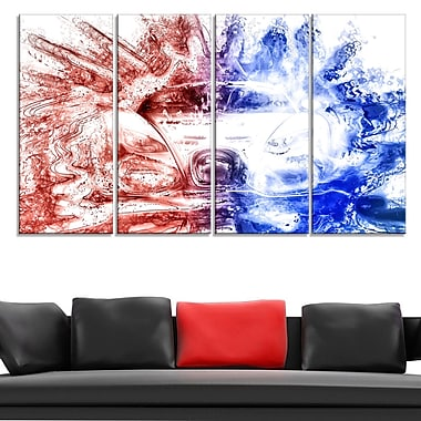 Red and Blue Car Metal Wall Art, 48x28, 4 Panels, (MT2607-271)