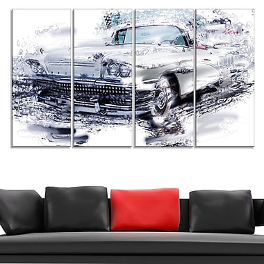 Grey Muscle Car Metal Wall Art