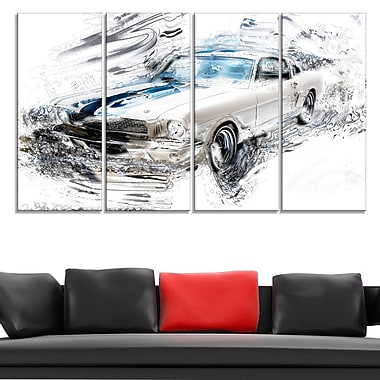 Super Charged American Classic Metal Wall Art, 48x28, 4 Panels, (MT2614-271)