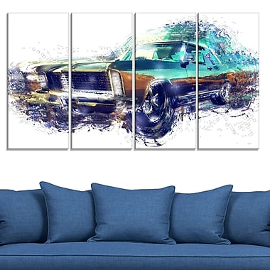 Pure American Muscle Metal Wall Art, 48x28, 4 Panels, (MT2616-271)