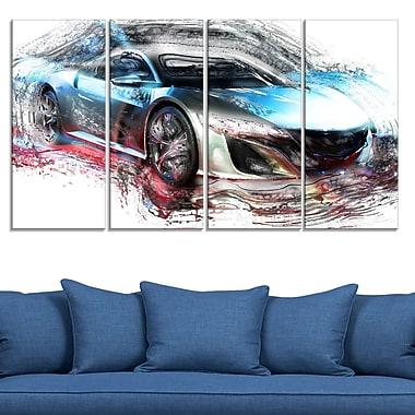 Art mural en métal, super voiture exotique