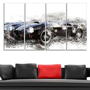 Black Roadster Convertible Metal Wall Art