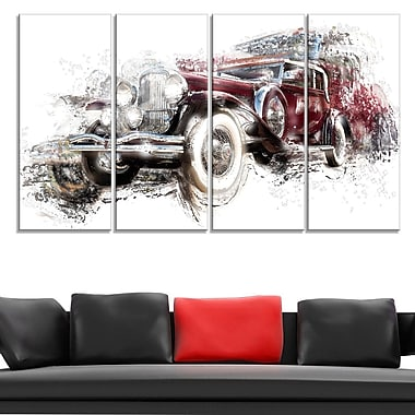 American Hot Rod Car Metal Wall Art, 48x28, 4 Panels, (MT2655-271)