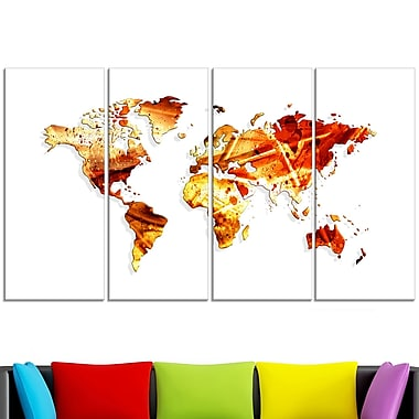 Spring Colours Map Metal Wall Art