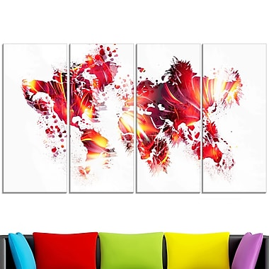 Firey Red Map Metal Wall Art