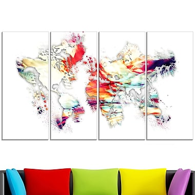 Colour Map Metal Wall Art, 48x28, 4 Panels, (MT2730-271)