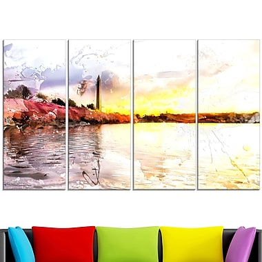 Washington Monument Landscape?? Metal Wall Art, 48x28, 4 Panels, (MT2804-271)