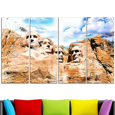 Mount Rushmore Metal Wall Art, 48x28, 4 Panels, (MT2809-271)