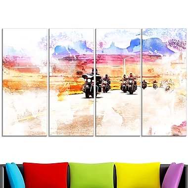 Route Biker Metal Wall Art, 48x28, 4 Panels, (MT2812-271)
