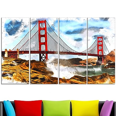 Sanfrancisco Metal Wall Art, 48x28, 4 Panels, (MT2819-271)