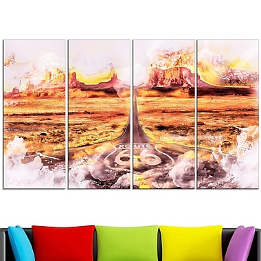 Route Metal Wall Art, 48x28, 4 Panels, (MT2820-271)