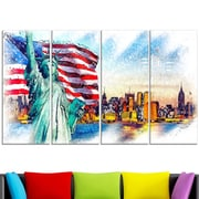 Colourfull Liberty Lady Metal Wall Art