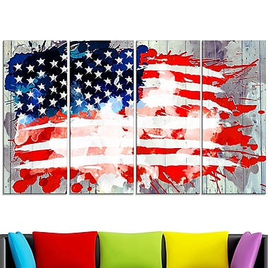 Abstract US Flag Wall Art