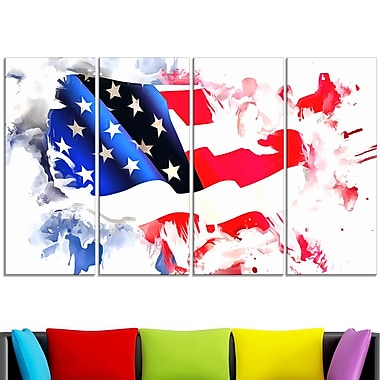 Colours of America Map Metal Wall Art, 48x28, 4 Panels, (MT2826-271)