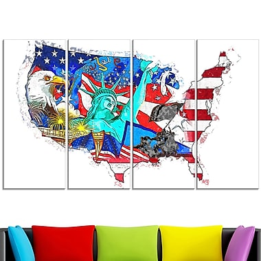 American Monuments Map Metal Wall Art