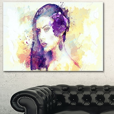 Dark Haired Beauty Sensual Metal Wall Art