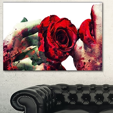 Lips and Roses Sensual Metal Wall Art, 28x12, (MT2907-28-12)