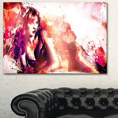 Waiting for YouSensual Metal Wall Art, 28x12, (MT2925-28-12)