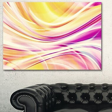 Candy Stripes Digital Metal Wall Art, 28x12, (MT3004-28-12)