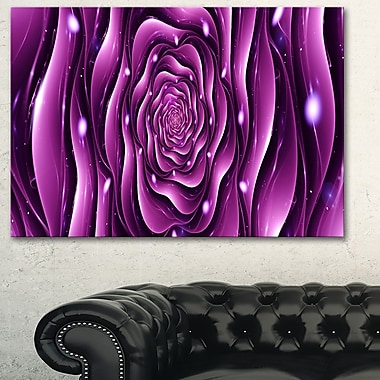 Purple Rose Digital Metal Wall Art
