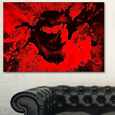 Speak Out Red Lips Digital Metal Wall Art, 28x12, (MT3008-28-12)