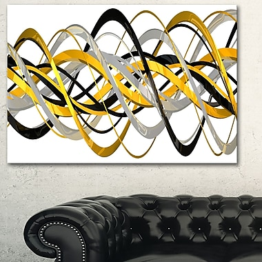 HelixExpression Abstract Metal Wall Art, 28x12, (MT3015-28-12)