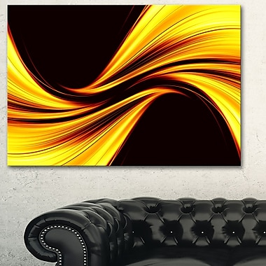 Mellow Yellow Harmony Abstract Metal Wall Art
