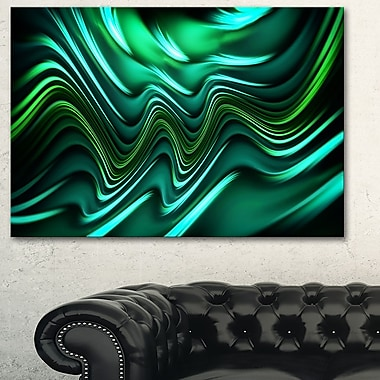 Emerald Energy Green Abstract Metal Wall Art