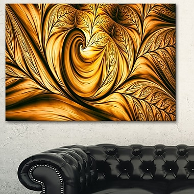Golden Dream Abstract Metal Wall Art, 28x12, (MT3026-28-12)