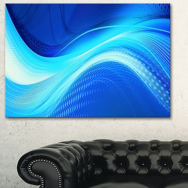Blue Hues Abstract Metal Wall Art, 28x12, (MT3028-28-12)