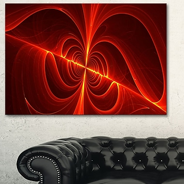 Red Laser Metal Wall Art, 28x12, (MT3036-28-12)