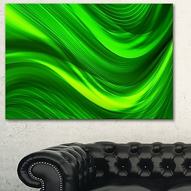 Green Laser Metal Wall Art, 28x12, (MT3038-28-12)