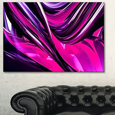Pink & Purple Ribbons Metal Wall Art, 28x12, (MT3040-28-12)