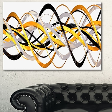 Gold and Silver Helix Metal Wall Art