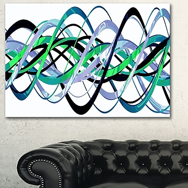 Green and Silver Helix Metal Wall Art, 28x12, (MT3045-28-12)