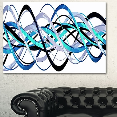 Blue and Silver Helix Metal Wall Art, 28x12, (MT3046-28-12)