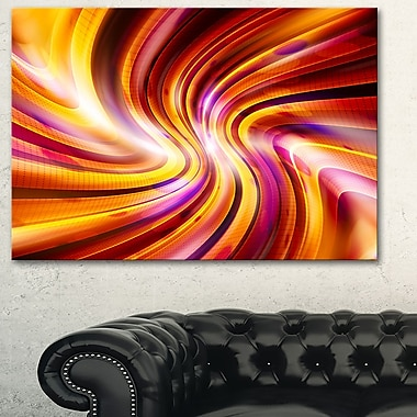 Warm Rainbow, art mural abstrait en métal, 28 x 12 (MT3051-28-12)