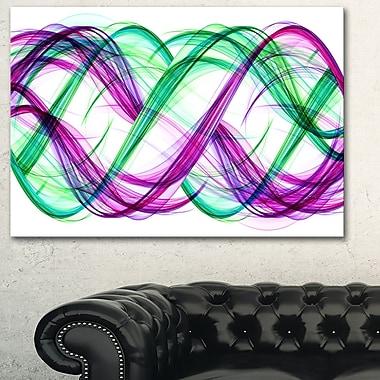 Art mural en métal, tango de vert et de violet, 28 x 12 po, (MT3053-28-12)