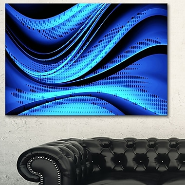 Blue and Black Transition Metal Wall Art