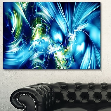 Green and Blue Shine Metal Wall Art, 28x12, (MT3062-28-12)