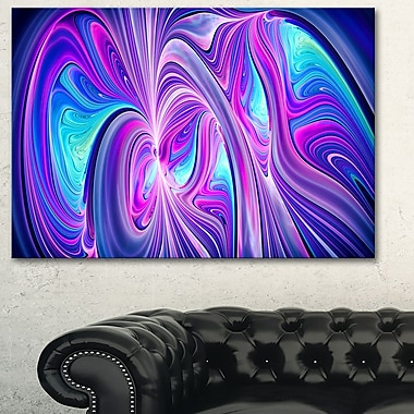 Purple and Blue Wonder Metal Wall Art, 28x12, (MT3070-28-12)