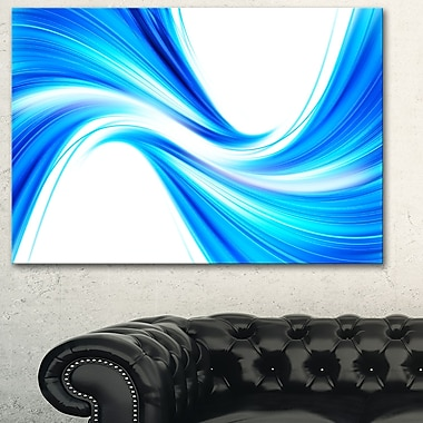 Peaceful Blue Flowing Through Metal Wall Art, 28x12, (MT3072-28-12)