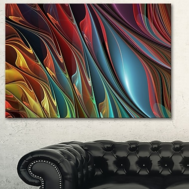 Leaves of Colour Metal Wall Art, 28x12, (MT3081-28-12)