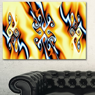 Yellow Squiggles Metal Wall Art, 28x12, (MT3087-28-12)