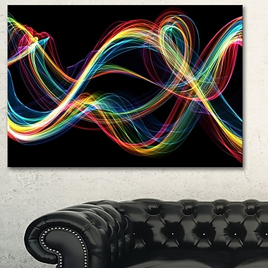 Coloured Smoke Metal Wall Art, 28x12, (MT3089-28-12)
