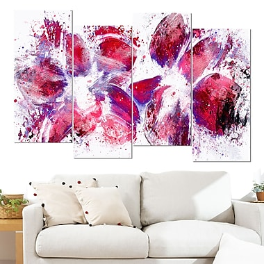 Abstract Tulips Floral Metal Wall Art, 48x28, 4 Panels, (MT3404-271)