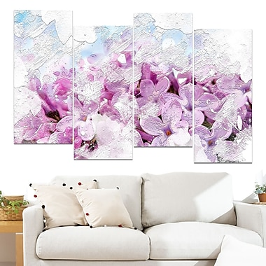 Flower Garden Floral Metal Wall Art, 48x28, 4 Panels, (MT3426-271)