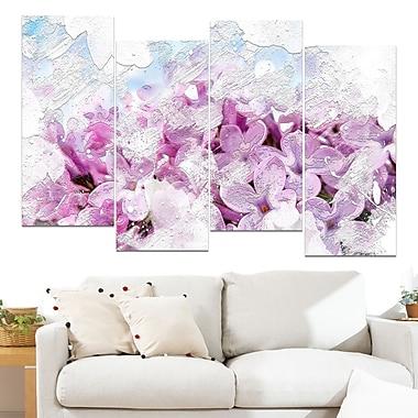 Flower Garden, art mural floral en métal, 48 x 28, 4 panneaux (MT3426-271)